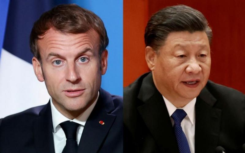 """马克龙呼吁习近平在应对气候危机方面显著提高中国的目标,并采取""""实质""""步骤,以结束中国对煤炭的依赖。(路透社)"""